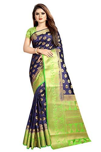 N T EXPORTS women's kanchipuram pure silk kanjivaram silk banarasi silk saree with blouse piece