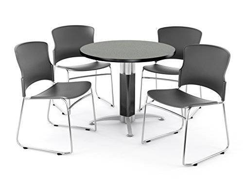 OFM PKG-BRK-027-0005 Breakroom Package, Gray Nebula Table/Gray Chair by OFM