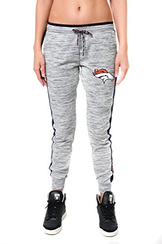 Nfl Gear Women - NFL Women's Denver Broncos Jogger Pants Active Basic Fleece Sweatpants, X-Large, Gray