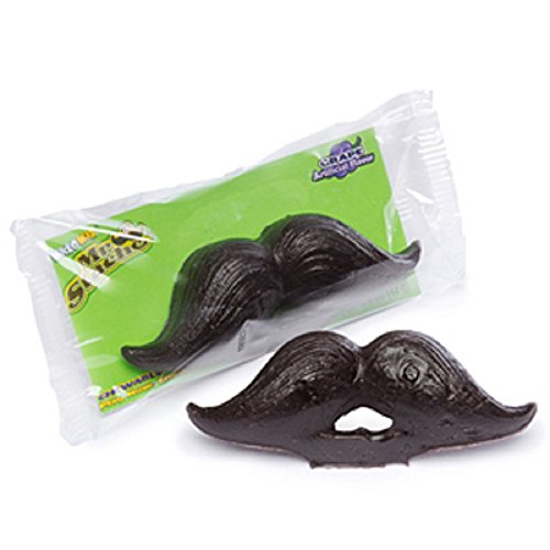 [Wax Mustache Candy 1 Count] (Manly Halloween Costumes)