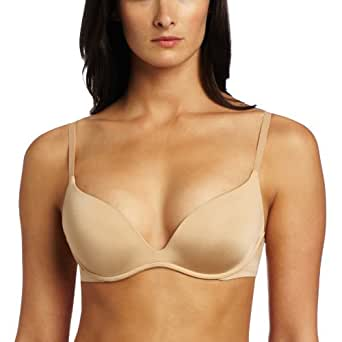 Calvin Klein Underwear Women's Push Positive Body Push Up Bra, Bare, 34D