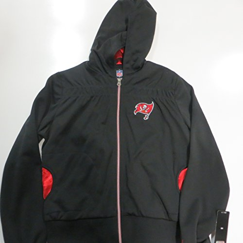Tampa Bay Buccaneers Womens X-Large Full Zip Embroidered Hooded Jacket with Rhinestone Detail ATPA 10 (Tampa Bay Buccaneers Womens Rhinestone)