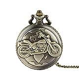 Vintage Bronze Chain Necklace Pocket Watch