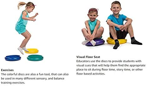 Stability Balance Disc PHYLLEXI Wobble Cushion Fitness Core Trainer Wiggle Pad for Home or Office Desk Chair /& Kids Workout Equipment Sensory Wiggle Seat with Exercise Guide