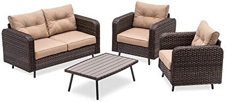 MCombo 4 Piece Outdoor Patio Furniture Sets