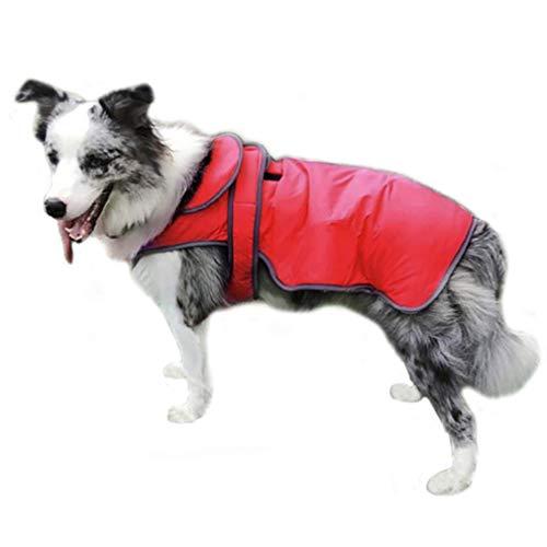 RSHSJCZZY Pet Windproof Waterproof Coats Reversible Reflective Soft Costumes Dog Raincoat -