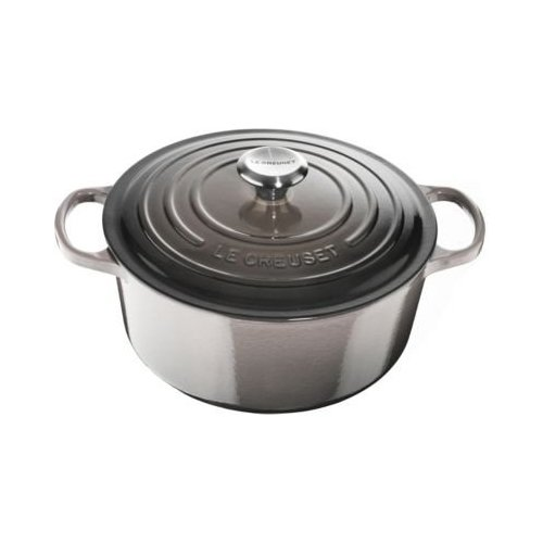 Le Creuset Signature Enameled Cast-Iron 5-1/2-Quart Round French (Dutch) Oven, Oyster by Le Creuset (Image #1)