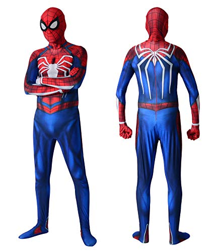 Superhero Insomniac Cosplay Costume Halloween Lycta Spandex Zentai Suit Adult,V1 165]()