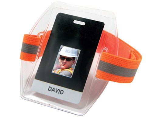 Ergodyne Squids 3386HV High Visibility Arm Band ID/Badge Holder ()