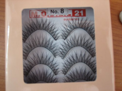 Model 21 False Fake No. 8 Eyelashes 10 Pairs