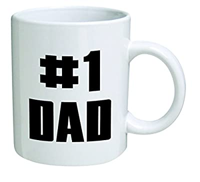 Number one dad, father's day - 11 OZ Coffee Mug - Funny Inspirational and sarcasm - By A Mug To Keep TM