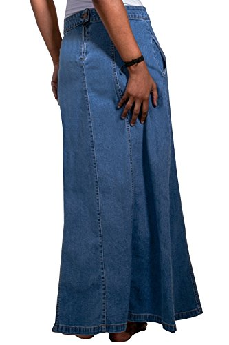 USKEES MATILDA Gonna di jeans lunga - Lavato chiaro Gonna denim lunga EU36-50 MATILDAPW