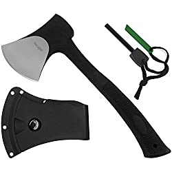 Special Sales: Yes4All Outdoor Camping Hunting Survival Steel Multi Functional Axe w/Sheath H105 (Axe Sheath and Fire Starter)