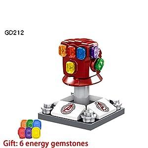 LCDY 1,44 Pouces Super-héros de la série illimitée Thanos Gants Modèle Diy3d pour Enfants Mini Diamant Building…