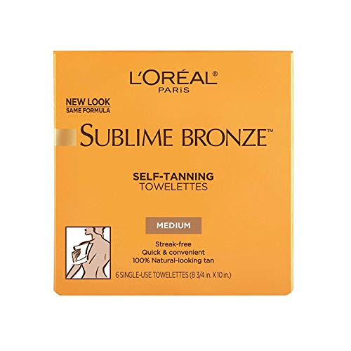 LOreal SUBLIME Self Tanning Towelettes Natural