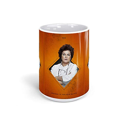 Ceramic Coffee Mug Television Show Cup Square Red Oitnb Tv Shows Series Drinkware Super White Mugs Family Gift Cups 15oz 443ml -