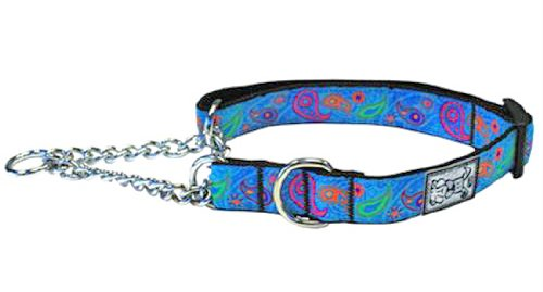 RC Pet Products 3/4-Inch Training Martingale Collar, Medium 9 to 14-Inch, Tropical Paisley ()