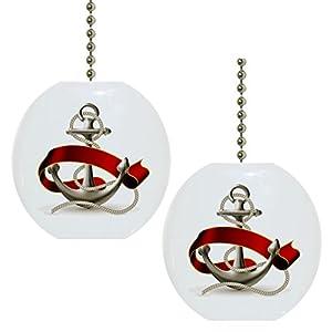 416835FvZEL._SS300_ 75+ Coastal & Beach Ceiling Fan Pull Chain Ornaments For 2020