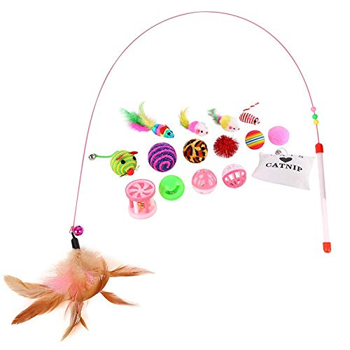 Amazon.com : Best Quality Baby cat Love Toy Set 16 pcs Toys for cat Variety Pack cat Toy Funny cat Mouse sisal Ball Gift Value Combination : Pet Supplies