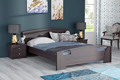 Zuari Queen Engineered Wood;MDF Bed Without Storage     Imperial Teak