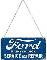 Nostalgic-Art Retro Ophangbord, Ford – Service & Repair – Geschenkidee voor fans van autoaccessoires, van metaal, Vintage ontwerp, 10 x 20 cm