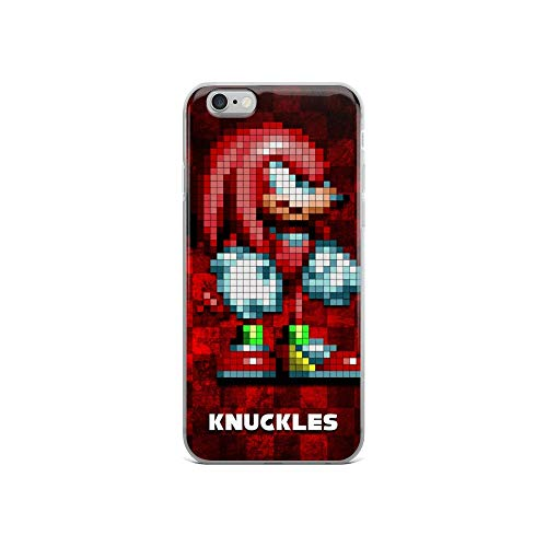 iPhone 6/6s Case Anti-Scratch Gamer Video Game Transparent Cases Cover Knuckles V Retro Video Games Computer Crystal Clear