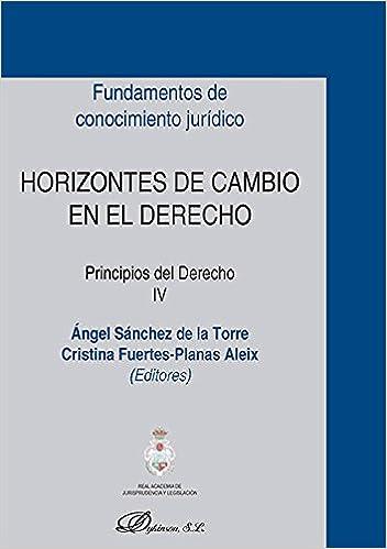Horizontes de cambio en el Derecho. Principios del Derecho IV: Amazon.es: Cristina, Sánchez de la Torre, Ángel Fuertes-Planas Aleix: Libros