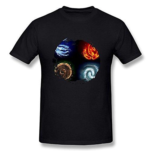 Matta The Last Airbender Men's T-Shirts Black S ()