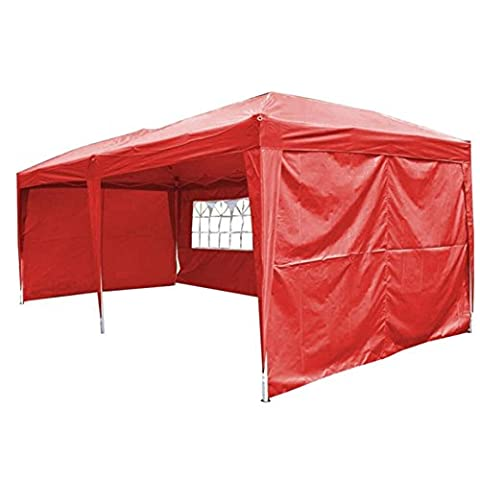 Uscanopy Easy Pop up Canopy Party Tent, 10 X 20-feet, W/4 Removable Sidewalls W/wheel Bag Red - Party Tent Replacement