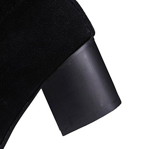 gatito tacones mujer Boots hebilla Mule negro AdeeSu Frosted xnSRqqw
