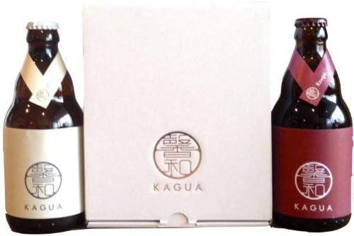 馨和 KAGUA(カグア)ブラン&ルージュの発泡酒2本 ギフトボックス