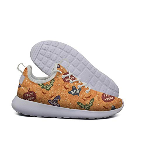 Eoyles gy Orange Halloween Design Women's Slip Resistant Lightweight Running Sports Shoes -