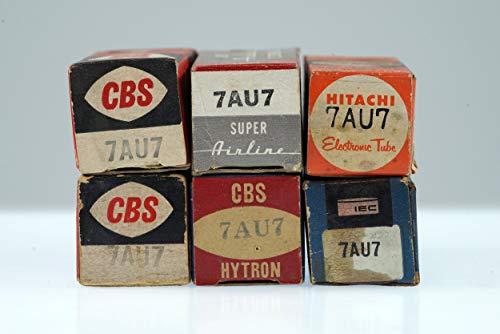 (6 Vintage 7AU7 / XCC82 Noval Twin Triode Radio Preamp Valve - BangyBang Tubes)
