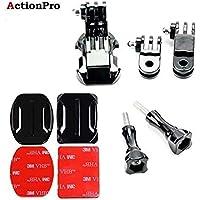 Action Pro Front Helmet Mount for Gopro 7 6 5 3 4 Session Yi 4K SJCAM SJ5000x Action Camera Accessories Kit Curved Sticker J-Hook Bracket