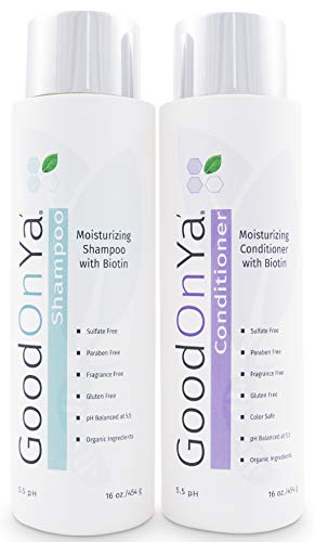 - Moisturizing Shampoo and Conditioner Set with Biotin and Manuka Honey - Biotin for Hair Growth - Volumizing Hair Loss Treatment for Thinning Hair - Gentle & Safe for Color Treated Hair (16 oz)