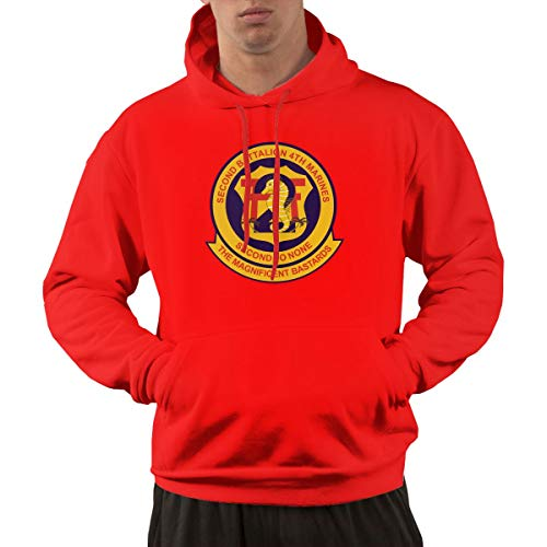 2nd Battalion, 4th Marines Mens Hoodies Hooded Sweatshirt with Pocket