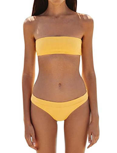 Yiding Damen Bikini-Set Coffee x3Evd0