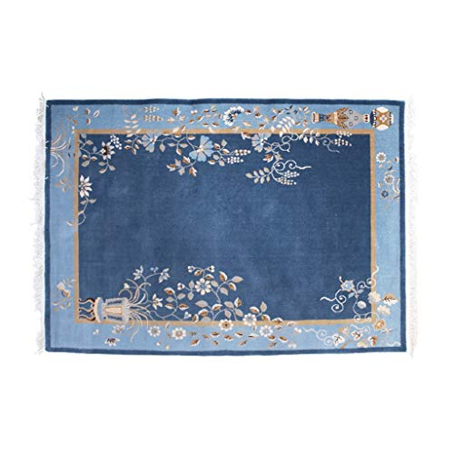 Kitchen & Table Linens Corridor Carpet Bedroom Bed Blanket Hotel Carpet Chinese Style Living Room Coffee Table Mat Rgu (Color : Blue, Size : 80cm150cm0.6cm)