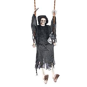 fun world swinging reaper halloween decoration gray 60 in l - Reaper Halloween