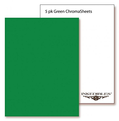 YummyInks  Brand: Frosting ChromaSheets 5 sheets - 8.5in x 11in - Green