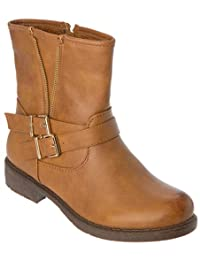 Womans Winter Ankle Boots Warm fleece Lining buckle Shoes