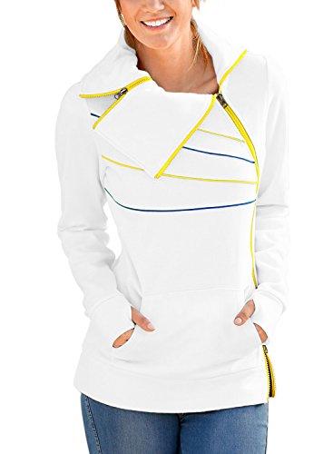 zipper detail sweater - 7