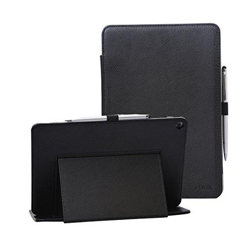 i-UniK Verizon 2016 Asus ZenPad Z10 Compatible Model# MSQP001/ZT500KL 4G LTE Tablet Case [Bonus Stylus] (Black)