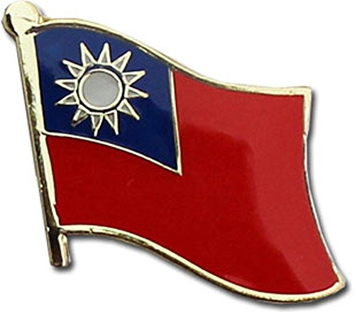 ALBATROS Pack of 50 Taiwan Country Flag Lapel Pin for Bike Hat and Cap for Home and Parades, Official Party, All Weather Indoors Outdoors