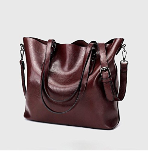 Women Shoulder Bucket Crossbody Bag Tote Bag LILYYONG red oxblood Handbag Bag Bag tpZwWqd