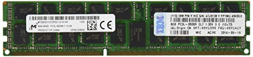 Ibm Pc Business - IBM 8 GB ECC LP DDR3 RDIMM PC3L-8500 1066MHz Memory Module 49Y1399 (Renewed)