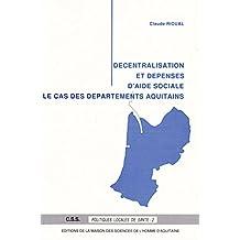 Decentralisation et Depenses d'Aide Sociale