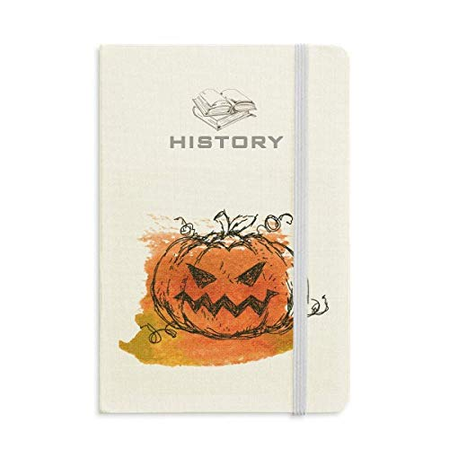 (Hand Painted Pumpkin Of Halloween History Notebook Classic Journal Diary)
