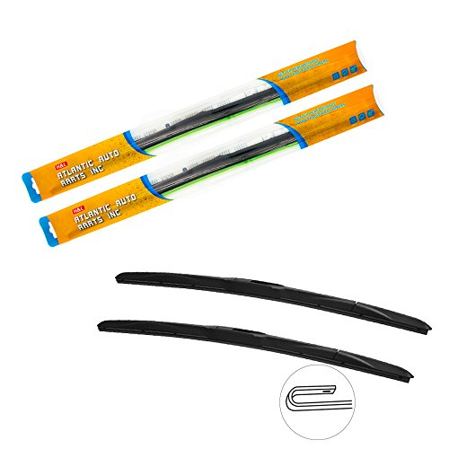H&L All Season Silicone Hybrid Wiper Blades 9x3 J-Hook Enhance Performance 22
