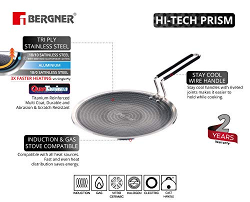 Bergner-Hitech-Prism-Non-Stick-Stainless-Steel-Concave-Roti-Tawa-26-cm-Induction-Base-Silver